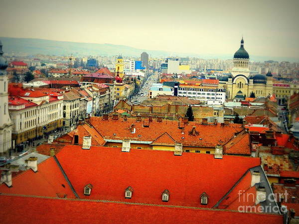 Cluj-napoca Art Print featuring the photograph Cluj From Above by Bufnila Alin