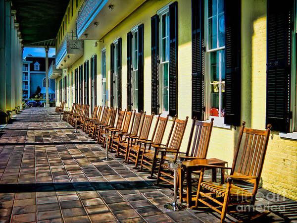 Rocking Chairs Art Print featuring the photograph Congress Hall Rockers by Colleen Kammerer