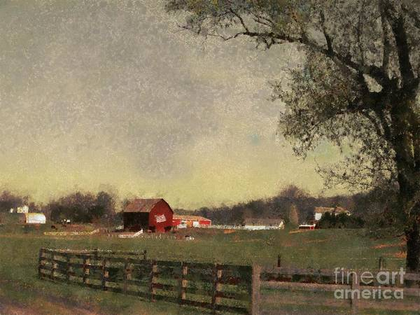 Farm Art Print featuring the painting Country Collections Two by Scott B Bennett