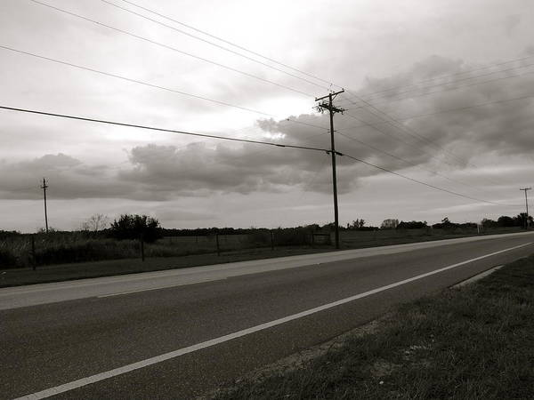 Black Art Print featuring the photograph Country Road II by Santiago Rodriguez
