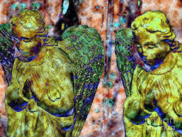 Diane Dimarco Art Art Print featuring the photograph Creche Angels 3 by Diane DiMarco