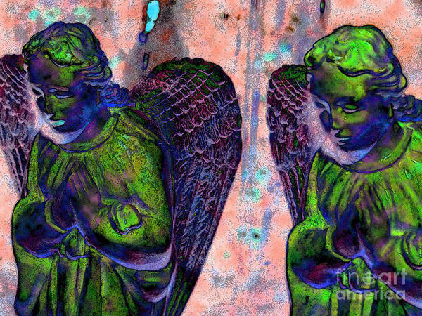 Diane Dimarco Art Art Print featuring the photograph Creche Angels 7 by Diane DiMarco