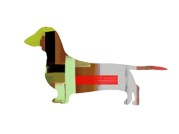 Dachshund Print featuring the painting Dachshund by Naxart Studio