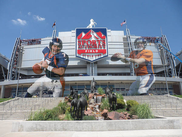 Broncos Print featuring the photograph Denver Broncos Sports Authority Field by Joe Hamilton