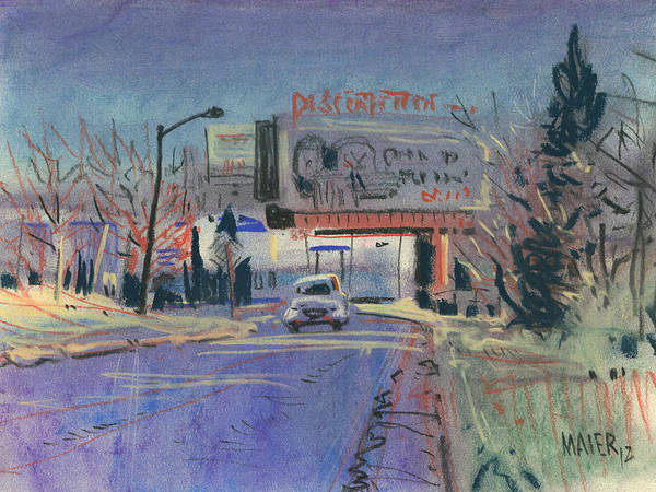 Billboard Art Print featuring the painting Discount Tire by Donald Maier