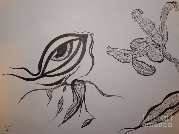 Drained Art Print featuring the drawing Drained By The Bloom by Thommy McCorkle