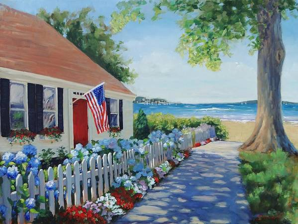 House Print featuring the painting Dreamscape by Laura Lee Zanghetti