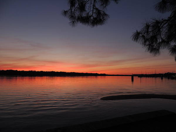 Sunset Art Print featuring the photograph Dreamy Sunset by Teresa Schomig