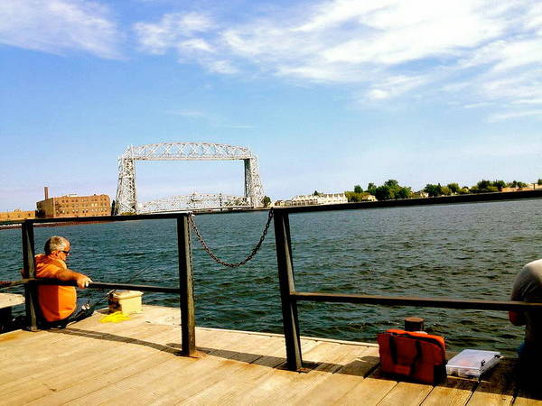 Fishermen Art Print featuring the photograph Duluth Docks by Danielle Broussard
