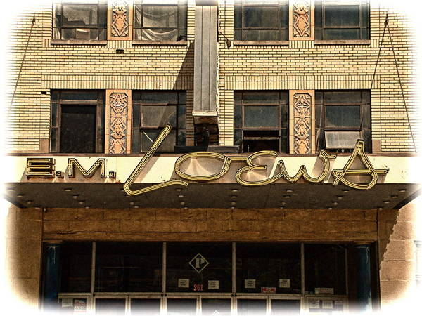E M Loews Art Print featuring the photograph E M Loews Theater by Mike McCool