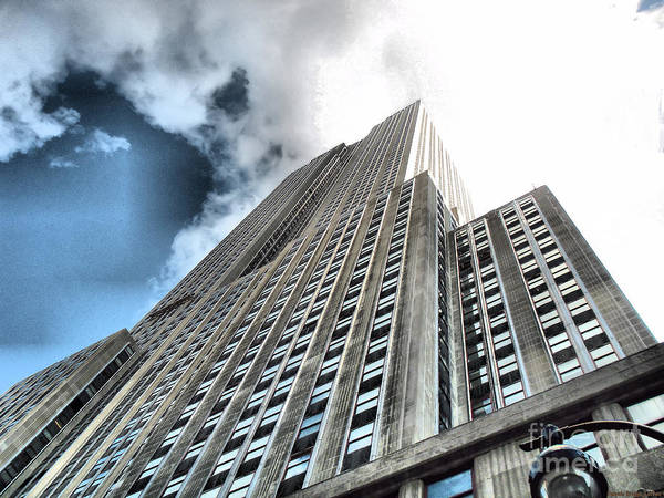 Empire State Building Art Print featuring the photograph Empire State Building - Vertigo In Reverse by Luther Fine Art