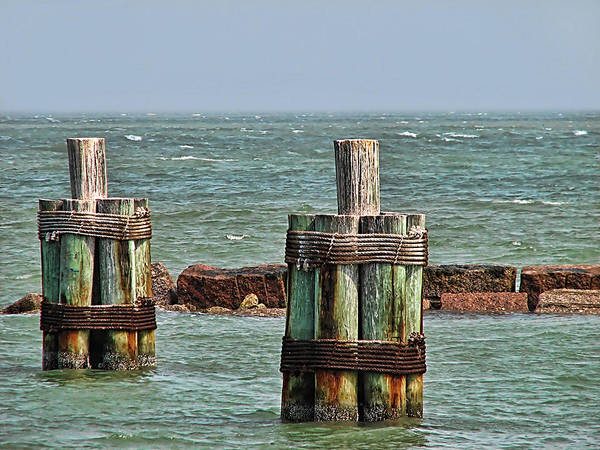 Ocean Art Print featuring the photograph Endlessly Staring Out To Sea by Wendy J St Christopher