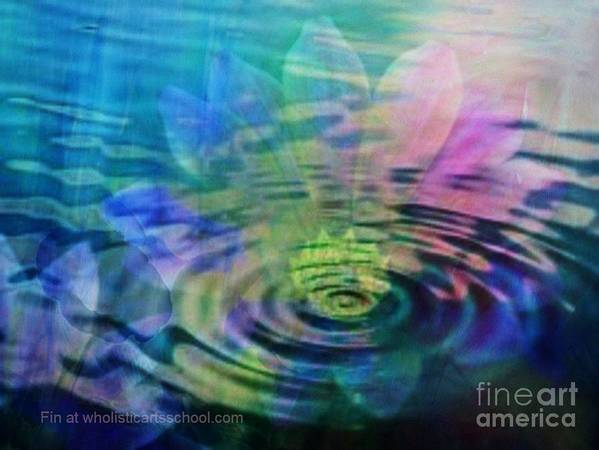 Ripple Art Print featuring the painting Energy Ripples by PainterArtist FIN