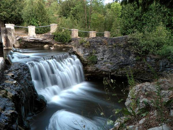 Waterfall Art Print featuring the photograph Eramosa River Rockwood On by Michael Caron