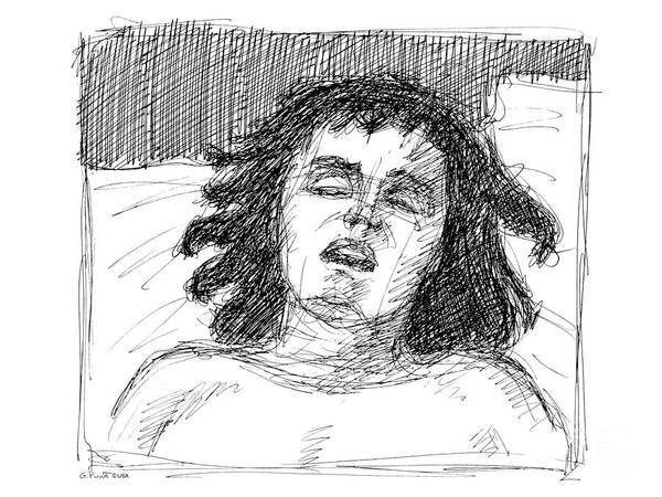 Erotic Renderings Art Print featuring the drawing Erotic-drawings-24 by Gordon Punt