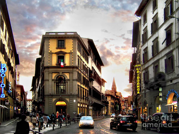 Florence Art Print featuring the photograph Evening In Florence by Jennie Breeze