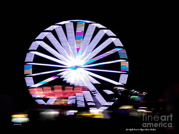 Colorful Art Print featuring the photograph Fair Night Ferris by Megan Dirsa-DuBois