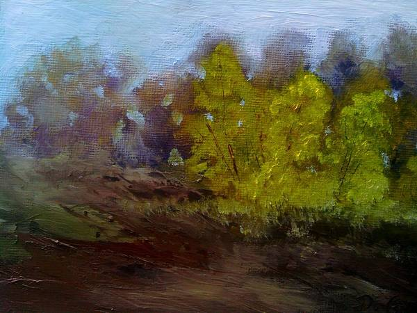 Landscape Art Print featuring the painting Fall Color by Dwayne Gresham