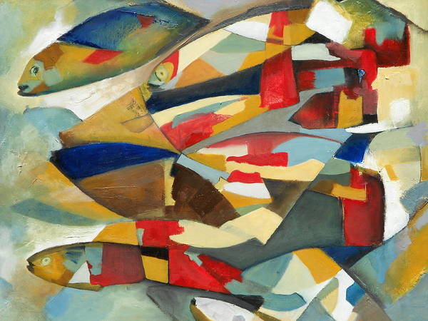 Fish Art Print featuring the painting Fish 1 by Danielle Nelisse