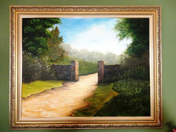 Muro Art Print featuring the painting Gate Of Memories Or Portao Das Memorias by Denise Druziani