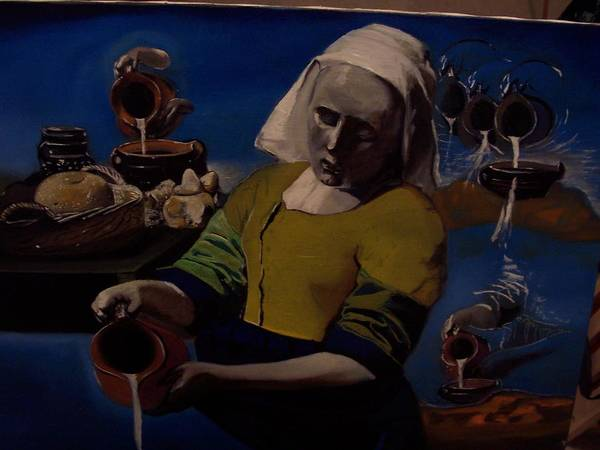 Art Print featuring the painting Geological Milk Maid Anthropomorphasized by Jude Darrien