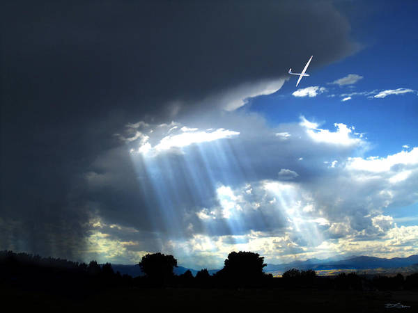 Glider Art Print featuring the photograph Glider Over Colorado Front Range by Ric Soulen