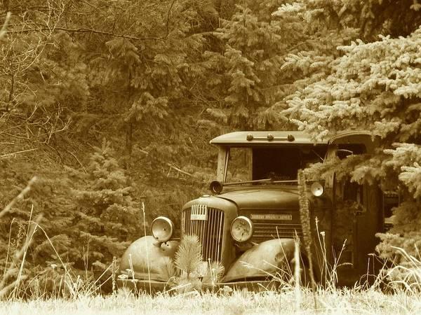Transportation Art Print featuring the photograph Gm Truck Sepia by Steven Parker