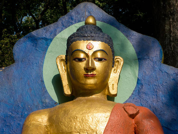 Buddha Art Print featuring the photograph Golden Buddha by Nila Newsom
