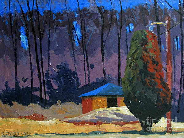 Golf Course Art Print featuring the painting Golf Course Shed Series No.2 by Charlie Spear