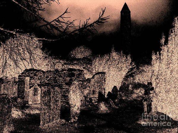 Grave Art Print featuring the photograph Graveyard At Night by Tim Townsend