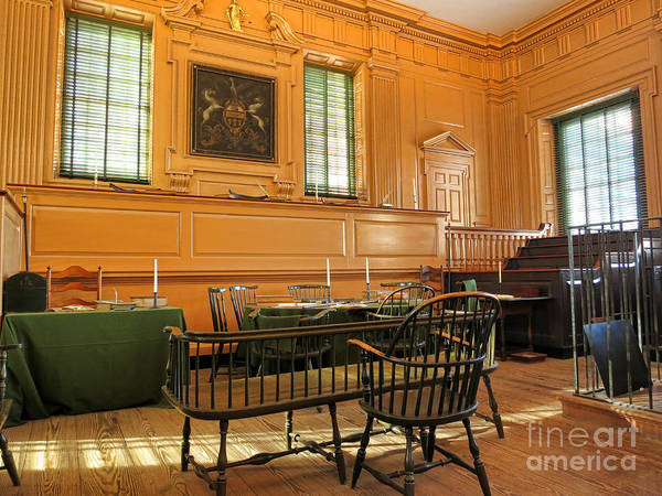 Philadelphia Art Print featuring the photograph Historic Supreme Court by Olivier Le Queinec