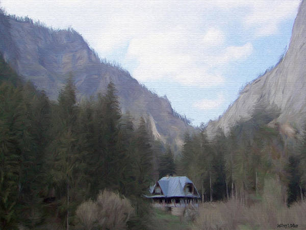 Alone Art Print featuring the painting Home In The Mountains by Jeffrey Kolker
