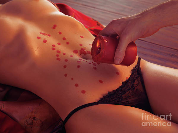 Sex Art Print featuring the photograph Hot Wax Foreplay by Oleksiy Maksymenko