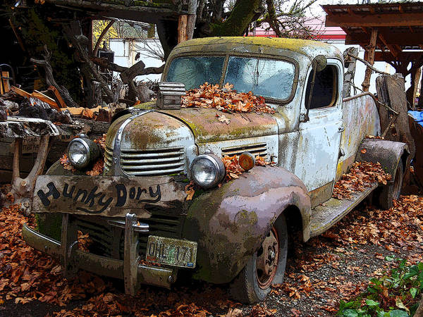 Abandoned Truck Art Print featuring the photograph Hunky Dory Truck by Donna Lee Young