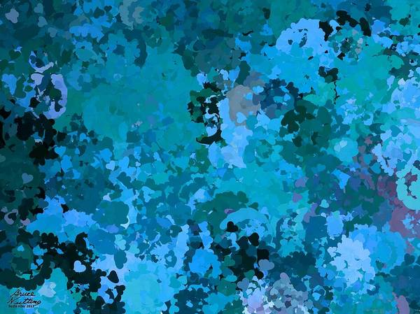 Blue Art Print featuring the painting I Love Blue by Bruce Nutting