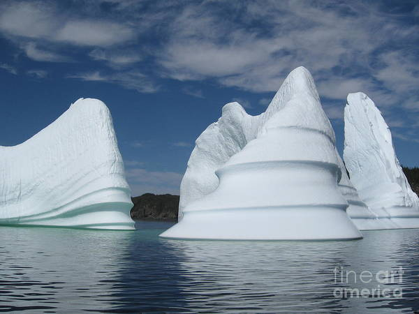 Iceberg Newfoundland Art Print featuring the photograph Icebergs by Seon-Jeong Kim