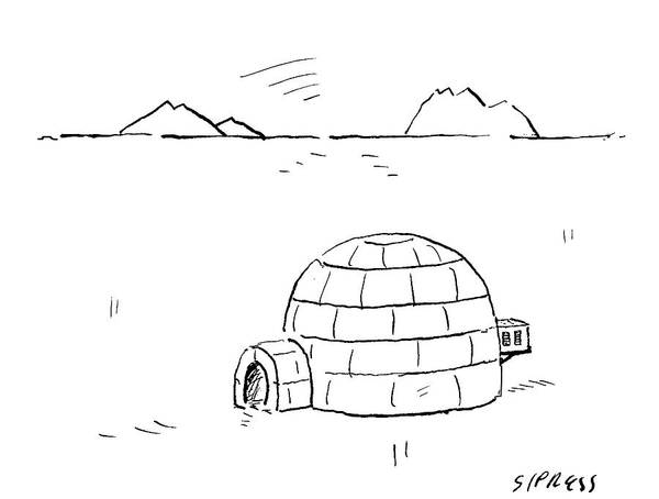Igloo With Air Conditing Unit Art Print By David Sipress