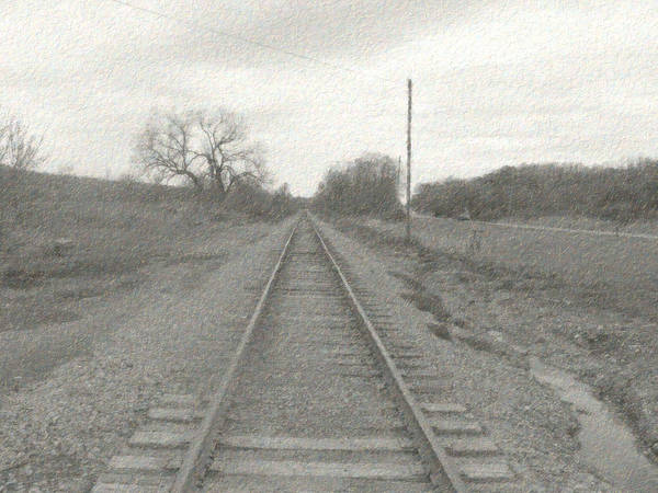 Train Art Print featuring the photograph In The Distance by Rhonda Barrett