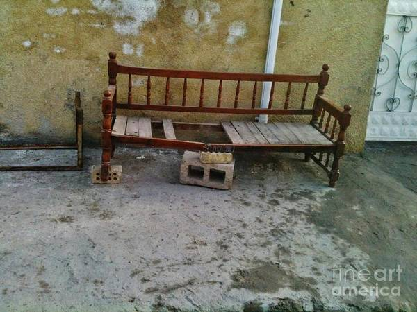 Portrait Art Print featuring the photograph Iraqi Bench by Jabbar Al Janabi