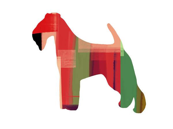 Irish Terrier Art Print featuring the painting Irish Terrier by Naxart Studio