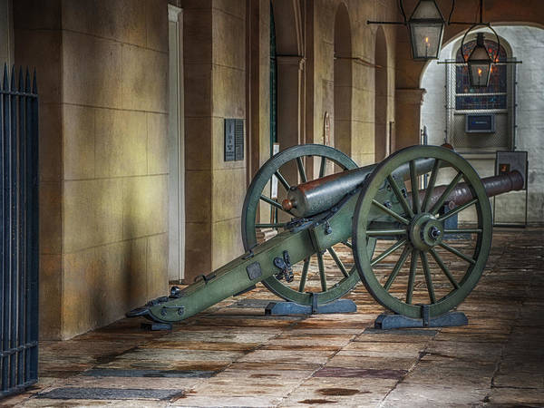 Jackson Square Print featuring the photograph Jackson Square Cannon by Brenda Bryant