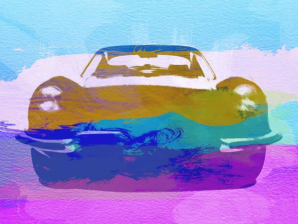 Jaguar E Type Art Print featuring the painting Jaguar E Type Front by Naxart Studio