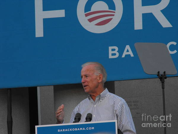 Politician Art Print featuring the photograph Joe Biden by Lisa Gifford