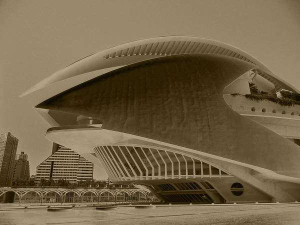 Attraction Art Print featuring the photograph L' Hemisferic - Valencia by Juergen Weiss