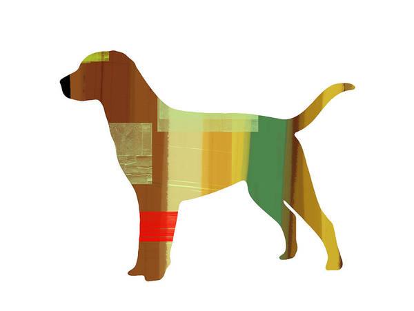 Labrador Retriever Art Print featuring the painting Labrador Retriever by Naxart Studio