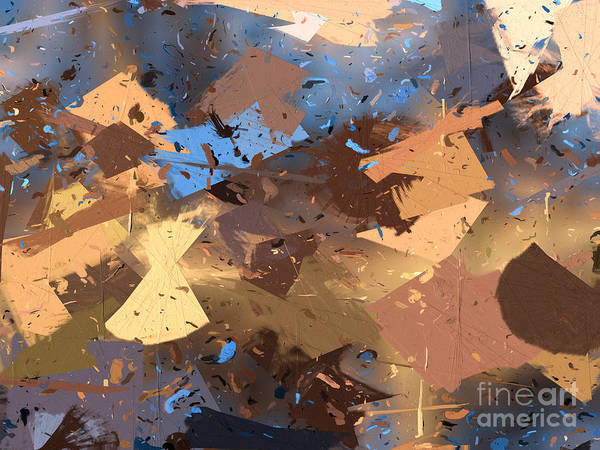 Abstract Art Print featuring the digital art Land And Sea by Heidi Smith