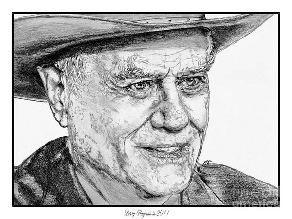 Larry Hagman Art Print featuring the drawing Larry Hagman In 2011 by J McCombie