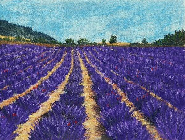 Hills Art Print featuring the painting Lavender Afternoon by Anastasiya Malakhova