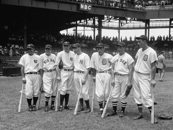 Baseball Art Print featuring the photograph Legends Row by Mountain Dreams