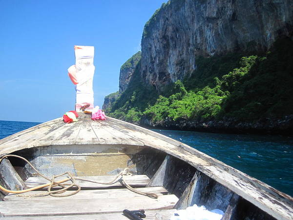 Phi Art Print featuring the photograph Long Boat Tour - Phi Phi Island - 0113157 by DC Photographer